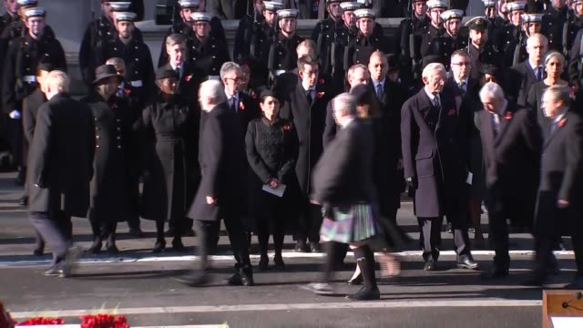 royals and politicians attend ceremony at whitehall england london westminster departures / party leaders cabinet members and former pms departing - pms stock videos and b-roll footage