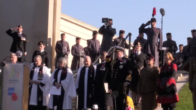 remembrance sunday service is held at the national memorial arboretum in alrewas, staffordshire. - national memorial arboretum stock videos & royalty-free footage