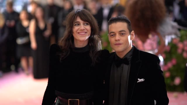 remi malek at the 2019 met gala celebrating camp notes on fashion arrivals at metropolitan museum of art on may 06 2019 in new york city - met gala 2019 stock videos and b-roll footage