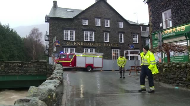 remnants of storm jonas bring wind and rain in north and western britain cumbria glenridding trees and house seen through rolling misty clouds and... - cumbria stock-videos und b-roll-filmmaterial