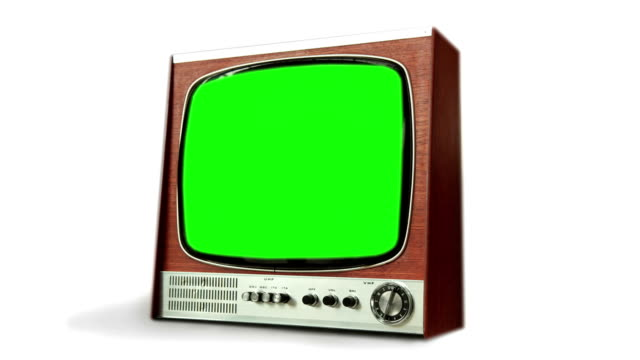 remote control television with green screen transition. hd - keyable stock videos & royalty-free footage