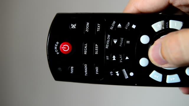 vidéos et rushes de télécommande - télévision haute définition