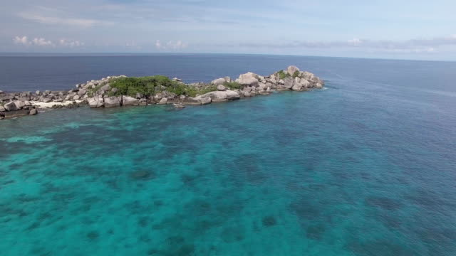 remote deserted reefs of the similan islands, thailand - david ewing stock videos & royalty-free footage