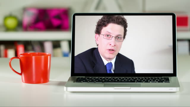 remote lawyer consultation on laptop - asking stock videos & royalty-free footage