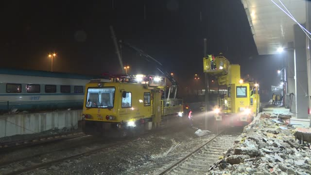 Removal of train debris at highspeed train crash site completed in Ankara Turkey on December 15 2018 At least nine people were killed and 47 others...