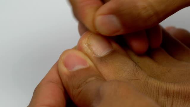 Entfernen abgestorbene Hautzellen von Füßen