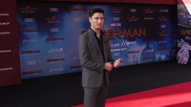 remy hii at the world premiere of spiderman far from home on june 26 2019 in hollywood california - red carpet event stock videos & royalty-free footage