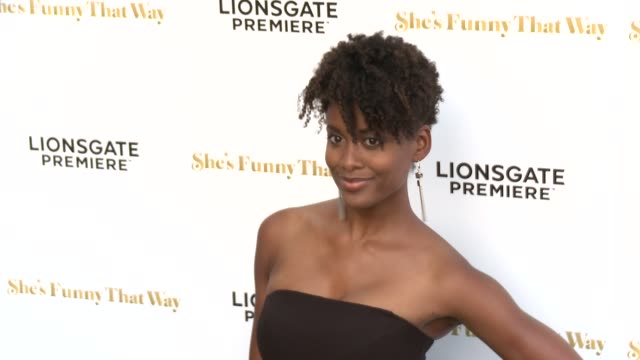 """ren croney at the """"she's funny that way"""" los angeles premiere at harmony gold theatre on august 19, 2015 in los angeles, california. - she's funny that way点の映像素材/bロール"""