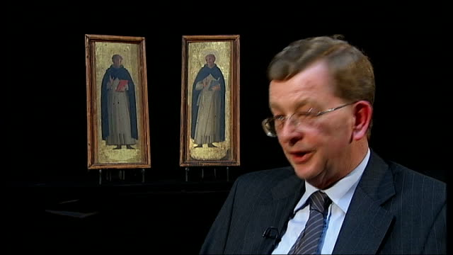 renaissance paintings found in oxford to be auctioned; bristol: michael liversidge interview sot - ルネッサンス様式点の映像素材/bロール