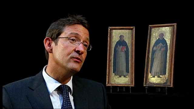 renaissance paintings found in oxford to be auctioned; dorset: dorchester: duke's auctioneers: guy schwinge interview sot - ルネッサンス様式点の映像素材/bロール