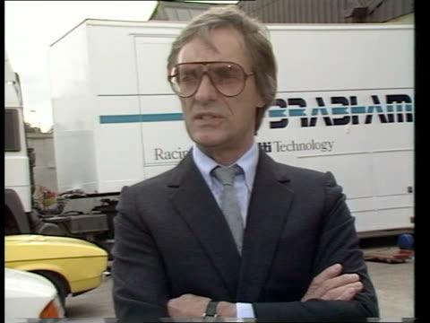 renault racing itn cms bernie ecclestone intvw ext sof i don't think big exposure - bernie ecclestone stock videos & royalty-free footage