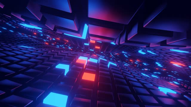 3d render, flying into tunnel, sci-fi spaceship corridor. futuristic technology abstract seamless for tech titles and background. graphic network, big data, data center, server, internet, speed. - illusion stock videos & royalty-free footage