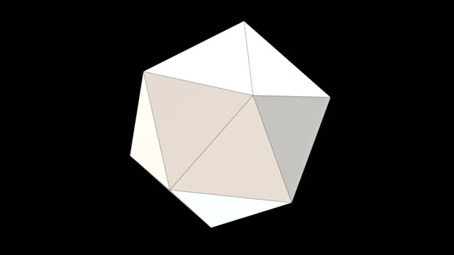 3d レンダリング ポリゴン ジオメトリック シェイプ、低ポリモデリング、ループ可能 - 辺縁部点の映像素材/bロール