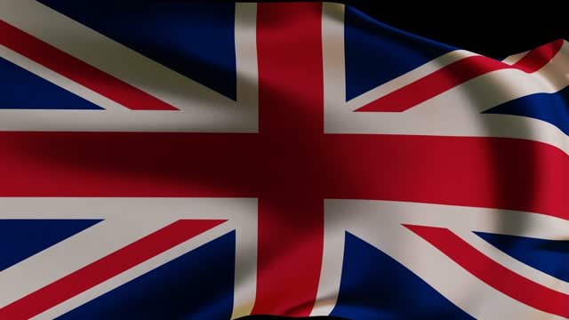 3d render. waving flag of great britain on black background. uk flag. - politics abstract stock videos & royalty-free footage