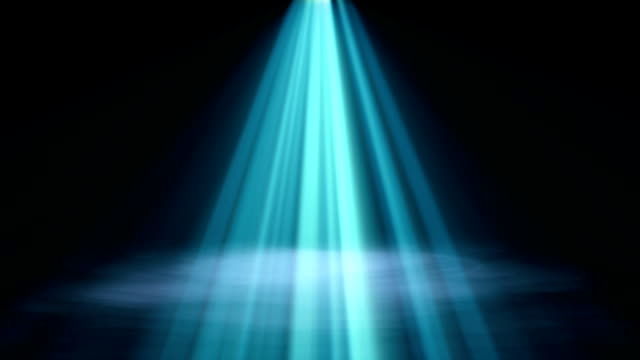3d rendered illustration of blue spotlight background with smoke - spotlight stock videos & royalty-free footage
