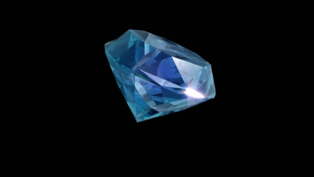 3d rendered shiny blue diamond - crystal stock videos & royalty-free footage