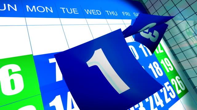 vidéos et rushes de 3 3d calendrier carte - semaine