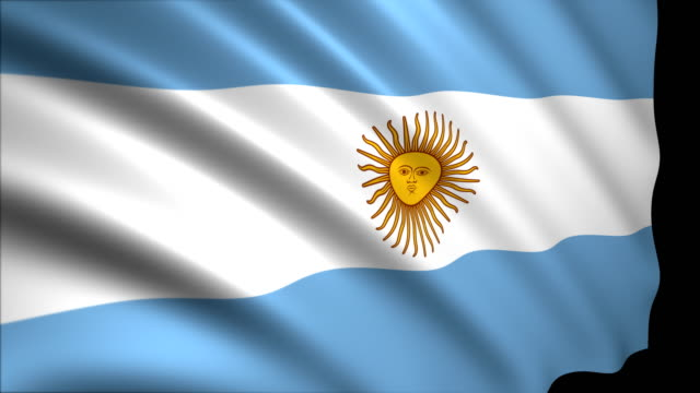 3D Rendering Flag of Argentina