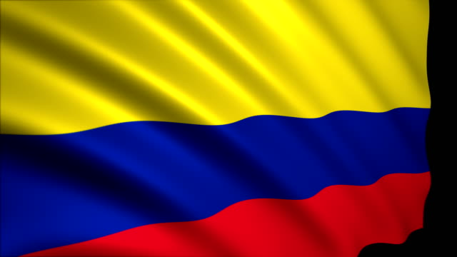 3d rendering flag of colombia - colombian flag stock videos and b-roll footage