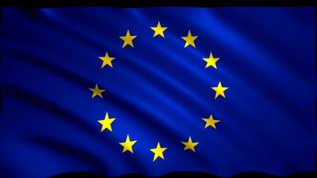 3d rendering flag of european union, eu flag - european union stock videos and b-roll footage