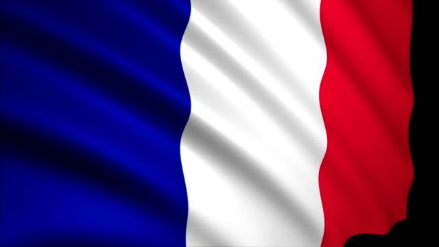 stockvideo's en b-roll-footage met 3d-rendering vlag van frankrijk - franse vlag