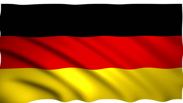 3d rendering flag of germany - german flag stock videos & royalty-free footage