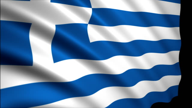 3d rendering flag of greece - greek flag stock videos & royalty-free footage