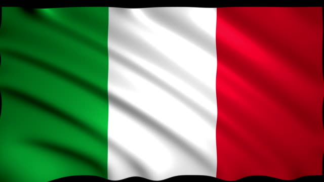3d rendering flag of italy - italian flag stock videos and b-roll footage