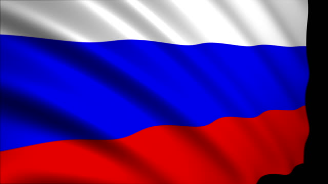 3d rendering flag of russia - russian flag stock videos & royalty-free footage