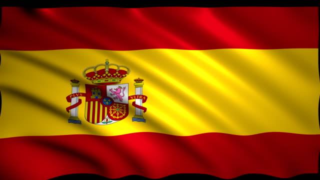 スペインの 3 d レンダリング フラグ - スペイン国旗点の映像素材/bロール