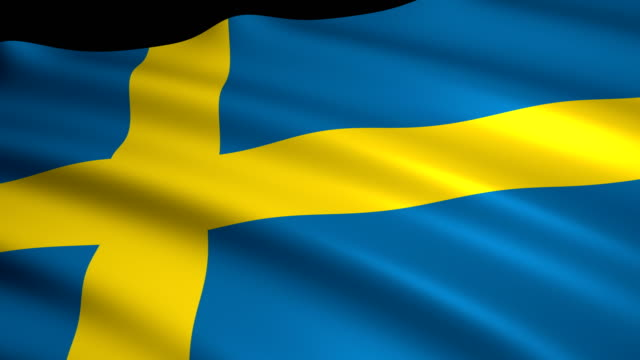3d rendering flag of sweden - swedish flag stock videos and b-roll footage