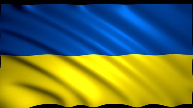 vidéos et rushes de rendu 3d drapeau de l'ukraine - politique et gouvernement