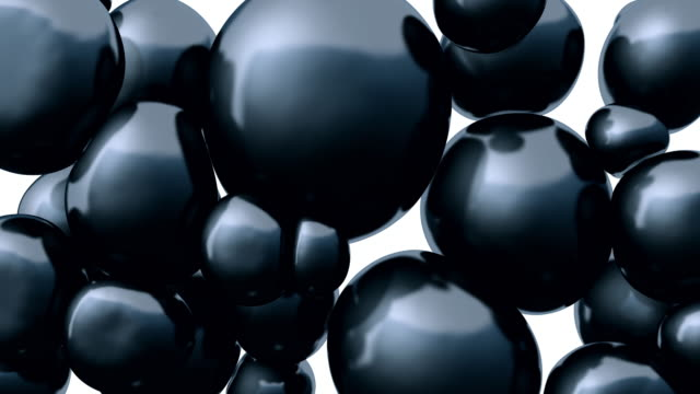 3d rendering floating spheres. abstract composition. - three dimensional stock videos & royalty-free footage