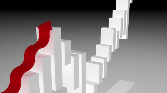 3d rendering growing bar chart, financial concept - graph stock videos & royalty-free footage