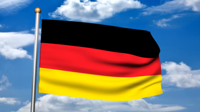 3d rendering of  the germany flag hd - german flag stock videos & royalty-free footage
