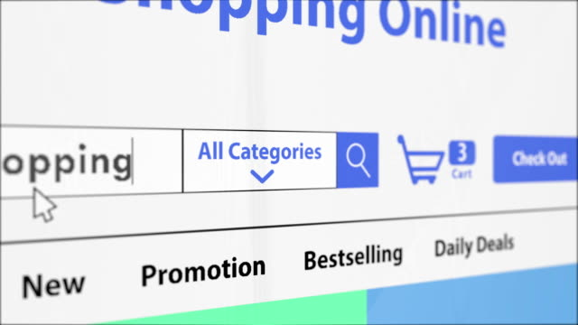 3d rendering online shopping website with increasing item on shopping cart - e commerce stock videos & royalty-free footage