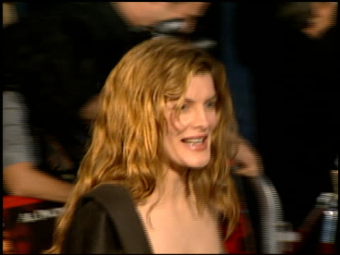 rene russo at the premiere of 'the devil's advocate' at the mann village theatre in westwood, california on october 13, 1997. - レネ・ルッソ点の映像素材/bロール