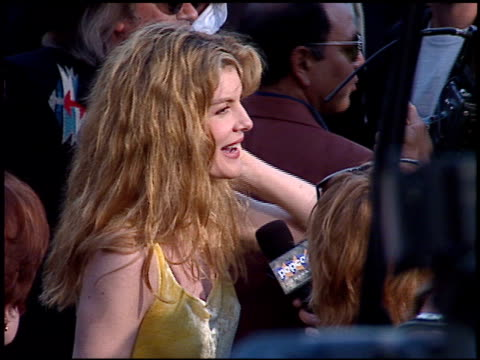 rene russo at the 'tin cup' premiere at the mann village theatre in westwood, california on august 1, 1996. - 1996 stock videos & royalty-free footage