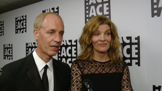 INTERVIEW Rene Russo Dan Gilroy on the event at 65th Annual ACE Eddie Awards in Los Angeles CA