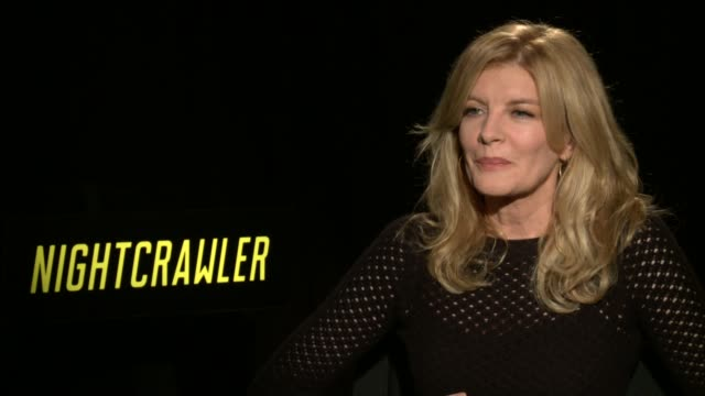 rene russo on taking the role, her character, message of the film and working with jake gyllenhaal at 'nightcrawler' los angeles press day at four... - レネ・ルッソ点の映像素材/bロール
