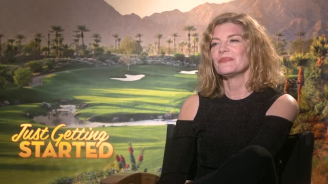 rene russo on working with the cast, having fun on the set & working with the director at the 'just getting started' junket on december 04, 2017 in... - レネ・ルッソ点の映像素材/bロール