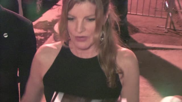 rene russo signs at the warrior after party in hollywood - レネ・ルッソ点の映像素材/bロール