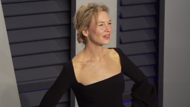 renée zellweger at 2019 vanity fair oscar party hosted by radhika jones at wallis annenberg center for the performing arts on february 24 2019 in... - renee zellweger stock videos & royalty-free footage