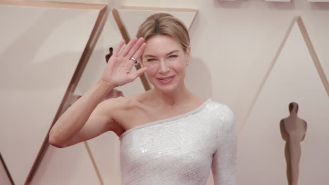 slomo renée zellweger at dolby theatre on february 09 2020 in hollywood california - academy awards stock videos & royalty-free footage