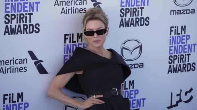renée zellweger at the 2020 film independent spirit awards on february 08, 2020 in santa monica, california. - renée zellweger stock videos & royalty-free footage