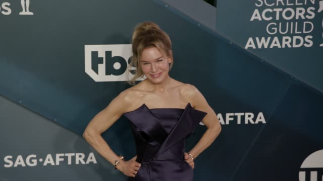 renée zellweger at the 26th annual screen actorsguild awards arrivals at the shrine auditorium on january 19 2020 in los angeles california - renee zellweger stock videos & royalty-free footage