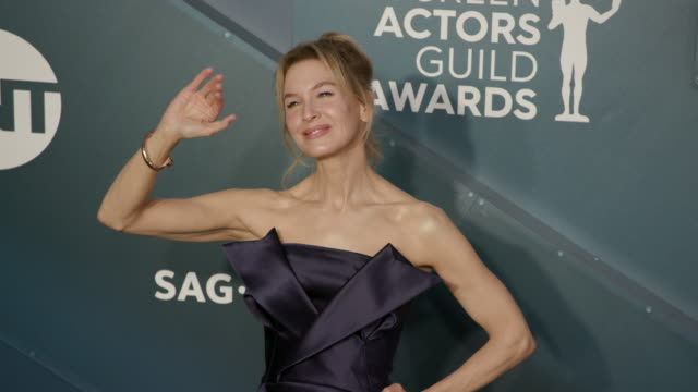 renée zellweger at the shrine auditorium on january 19, 2020 in los angeles, california. - screen actors guild stock videos & royalty-free footage