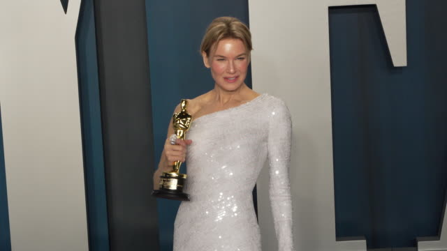 renée zellweger at vanity fair oscar party at wallis annenberg center for the performing arts on february 09, 2020 in beverly hills, california. - oscar party stock videos & royalty-free footage