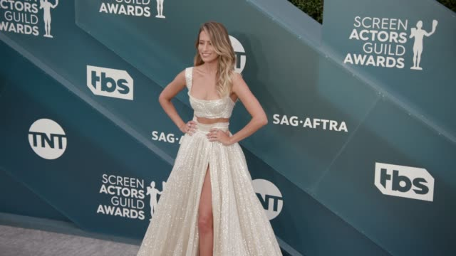 renee bargh at the 26th annual screen actors guild awards arrivals at the shrine auditorium on january 19 2020 in los angeles california - shrine auditorium stock videos & royalty-free footage