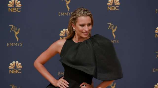renee bargh at the 70th emmy awards arrivals at microsoft theater on september 17 2018 in los angeles california - emmy awards stock videos & royalty-free footage